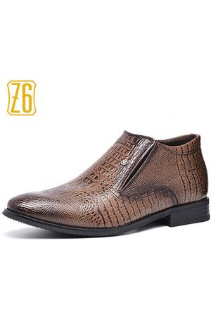Newchic Z6 Men Crocodile Pattern Pointed Toe Business Casual Boots