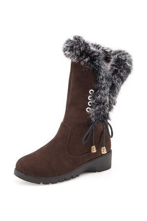 Newchic Mid Calf Fur Lining Boots