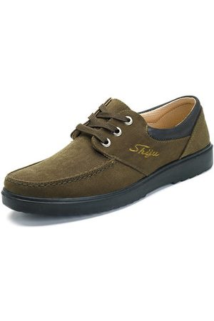 Newchic Men Fabric Lace Up Casual Shoes