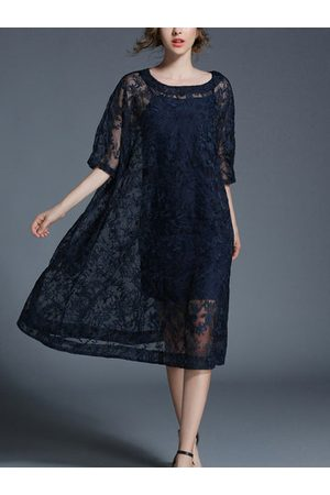 Newchic TangJie Sexy Lace Hollowed Out Two Pieces Women Dresses