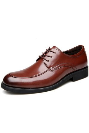Newchic Men Round Toe Lace Up Business Casual Shoes
