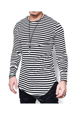 Newchic Plus Size Stripes Casual Graphic T Shirt