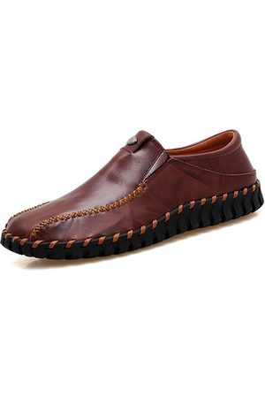 Newchic Men Hand Stitching Leather Shoes