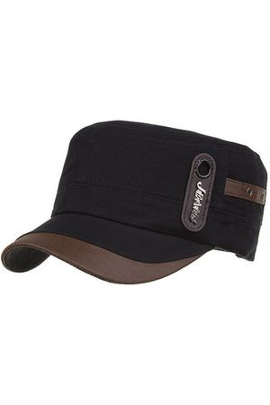 Newchic Men Cotton Sunshade Flat Top Caps