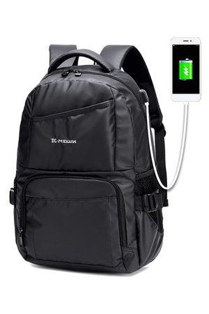 Newchic Large Capacity USB Charging Port Waterproof Backpack For Men