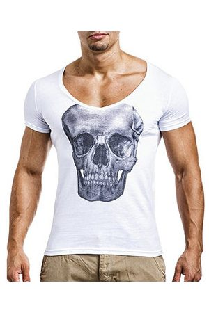Newchic Breathable Skeleton Printed Casual T Shirt