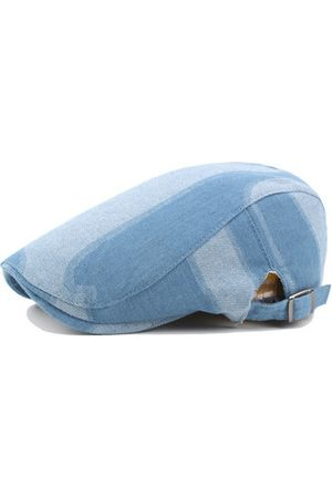 Newchic Mens Cotton Washed Denim Berets Caps