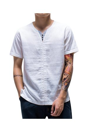 Newchic Chinese Style Linen Vintage Casual T shirt