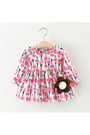 Newchic Baby Printed Dresses - Flower Printed Baby Girls Dress