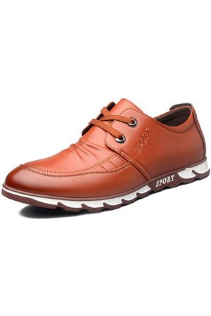 Newchic Men Microfiber Leather Large Size Lace Up Casual Shoes