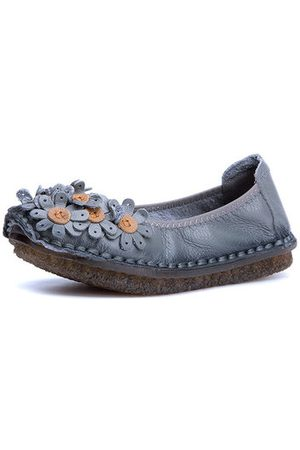 Newchic SOCOFY Soft Flat Casual Leather Loafers