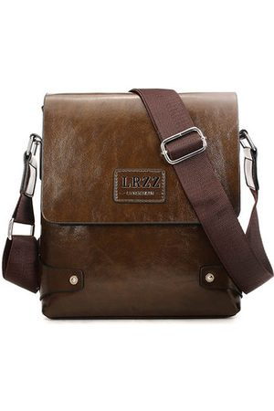 Newchic Men Business PU Leather Messenger Briefcase Shoulder Bag