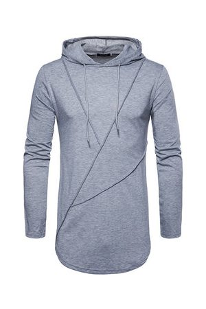 Newchic Brief Solid Color Hooded T-shirts