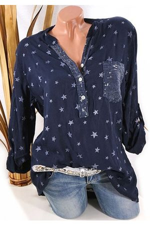 Newchic Star Printed Sequins Pocket Shirt