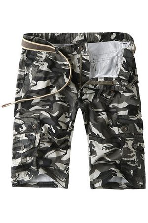 Newchic Camo Multi-pocket Knee Length Cargo Shorts