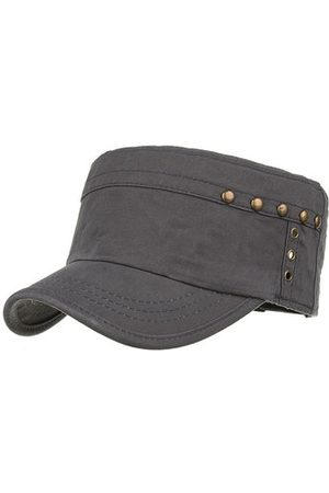Newchic Rivet Decorated Cotton Flat Cap Breathable Summer Visor Cap