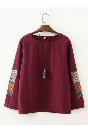 Newchic Ethnic Patchwork Vintage T-shirts