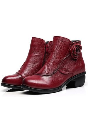 Newchic SOCOFY Retro Soft Leather Boots
