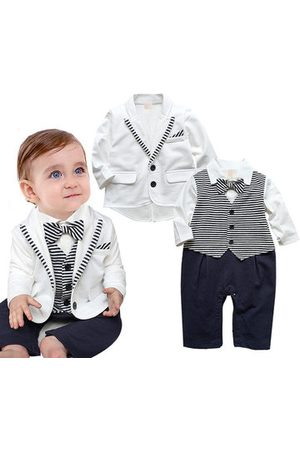 Newchic 2pcs White Suit Style Baby Romper