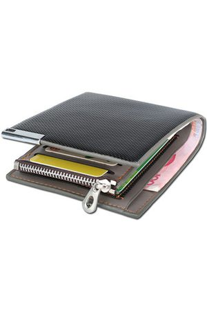 Newchic 7 Card Holders Business Casual Coin Bag Wallet For Men
