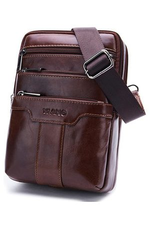 Newchic Genuine Leather Business Shoulder Chest Bag Crossbody Bag