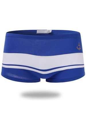 Newchic Anchor Printing Patchwork Boxer Brief