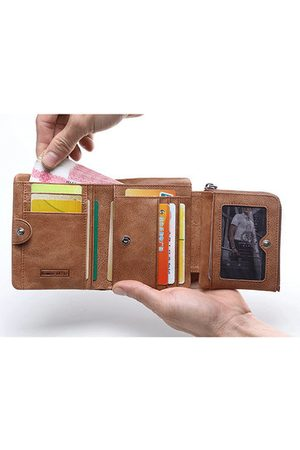 Newchic Leather Vintage Trifold Wallet For Men