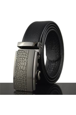 Newchic 125-130CM Men Business Cowhide Leather Belt Casual Automatic Buckle Leather Luxury Belt Straps