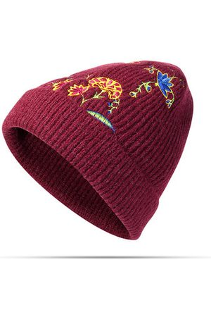 Newchic Women Wool Embroidery Warm Knitted Hats