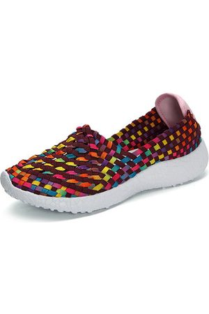 Newchic Colorful Elastic Knitting Breathable Casual Shoes For Women