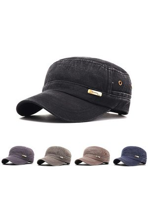 Newchic Mens Cotton Flat Top Hats Adjustable
