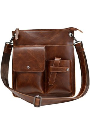 Newchic Vintage Business Casual Shoulder Bag Men Crossbody Bag