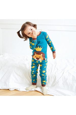 Newchic Blue Cartoon Lion Boys Pajama Set