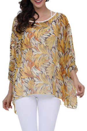 Newchic Beach Printed Sun Protecetive Cover Up Blouse