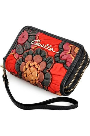 Newchic Brenice Vintage Floral Key Case Casual Coin Purse Wallet For