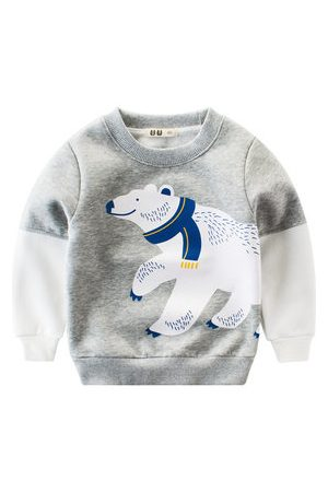 Newchic Cute Bear Boys Long Sleeve Tops