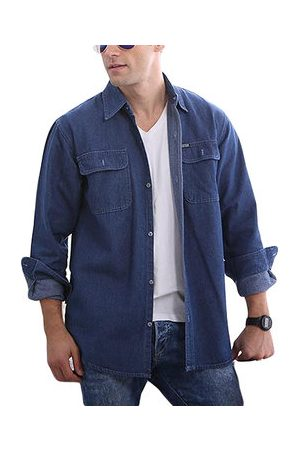Newchic Solid Color Loose Denim Shirts
