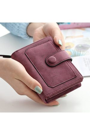 Newchic Women Vintage PU Leather Wallet Purse Coin Bag Zipper Short Wallet