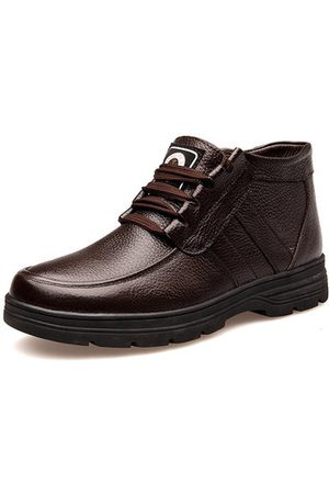 Newchic Men Casual Plush Lining Ankle Boots
