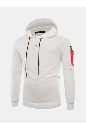 Newchic Mens Letter Printing Cotton Hoodies
