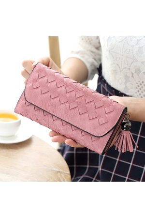 Newchic Women PU Leather Card Holder Hasp Wallet Key Bags Coin Bag
