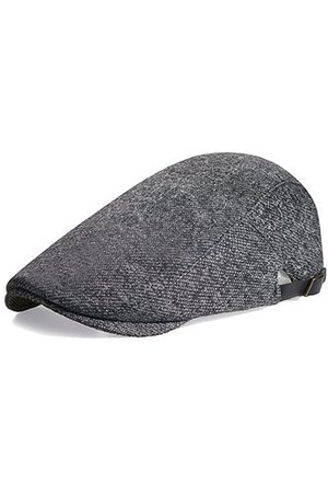 Newchic Mens Wool Solid Retro Beret Cap