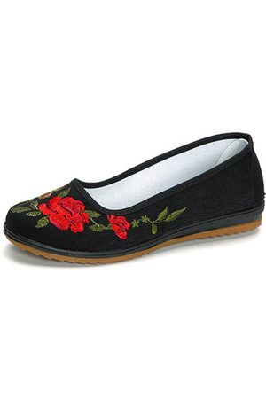 Newchic Flower Printing Soft Vintage Flat Casual Shoes For Women