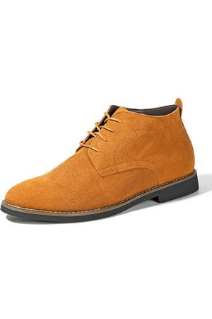 Newchic Men's British Style High Top Lace Up Classic Casual Ankle Bo