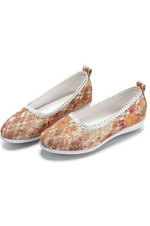 Newchic Embroidered Old Peking Soft Flat Casual Shoes