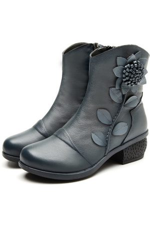 Newchic SOCOFY Vintage Leather Boots