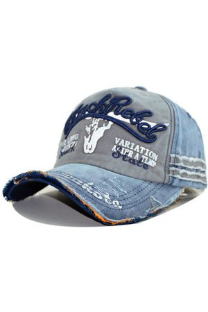Newchic Washed Cotton Baseball Cap Tattered Adjustable Visor Cap
