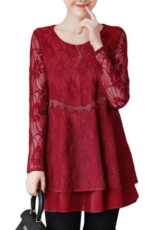 Newchic Elegant Lace Two Layers Shirts