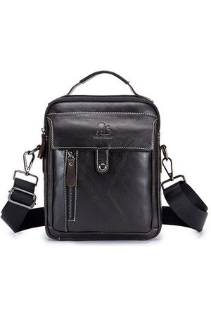 Newchic Retro Genuine Leather Men Business Handbag Crossbody Bag