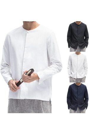 Newchic Chinese Style Linen Casual Shirts